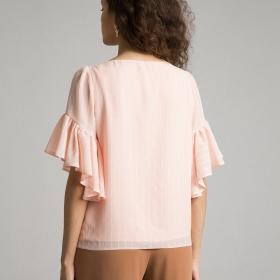 Блузка с рюшей по рукаву B2389/florentina