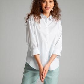 Однотонная рубашка из хлопка B2540/amina